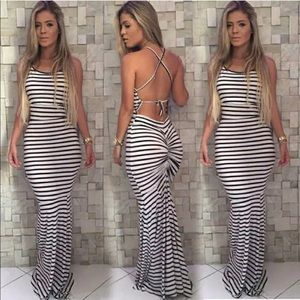 Dresses & Skirts - Sexy Fishtail Striped Knit Dress